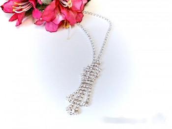 Štrasový náhrdelník 2061  Jablonecká bižuterie