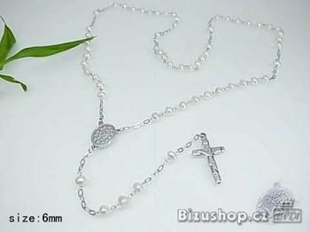 Růženec chirurgická ocel perlička 68 cm 16958