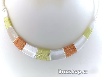 Náhrdelník obojek oranžovožlutý 30050