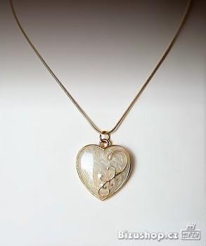 Řetízek s přívěskem Srdce zlaté 794703