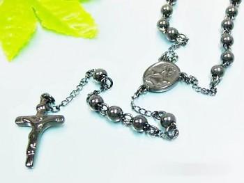 Zyta Růženec z chirugické oceli černý 17589