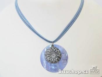 Náhrdelník přívěšek perleť Modrý 3235103