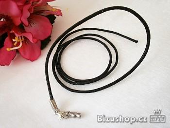 Šnůrka černá neukončená 20015