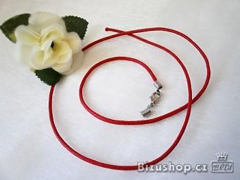 Šnůrka červená neukončená 20016