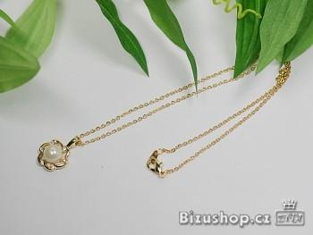 Řetízek s přívěskem perla  6968