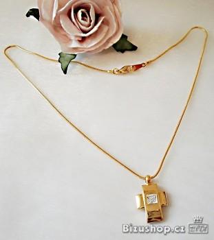 Řetízek zlatý s přívěskem křížek 4067