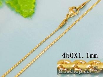 Zyta Řetízek 45 cm chirurgická ocel zlatá 17512