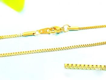 Řetízek zlatý z chirurgické oceli 45 cm 17510