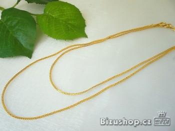 Řetízek ve zlatém 75 cm 20050 Jablonecká bižuterie