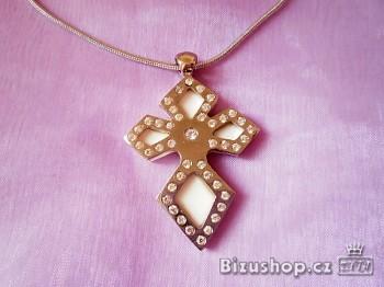 Přívěsek kříž na řetízku 2221