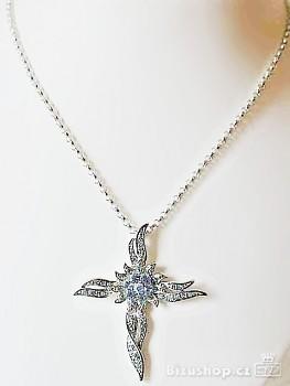 Zyta Náhrdelník, Řetízek s přívěskem Kříž modrý 2481