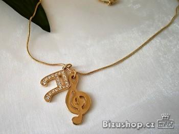 Zyta Řetízek s přívěskem Houslový klíč 7576