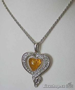 Řetízek s přívěškem srdce 268401