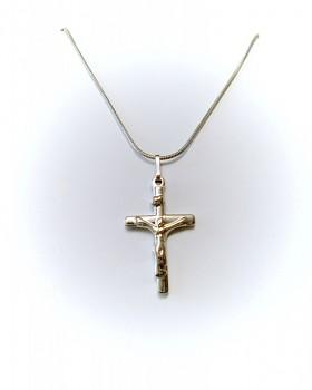 Zyta Ocelový přívěsek křížek  na řetízku 16817