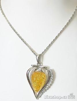 Zyta Řetízek s přívěškem žlutý kámen 268501