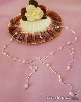 Souprava náhrdelník a náušnice perličky 2057 Jablonecká bižuterie