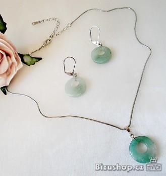Zyta Souprava náhrdelník s přívěskem a náušnice 7305