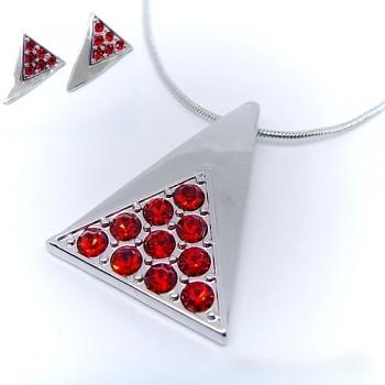 Souprava náhrdelník a náušnice červená 283201