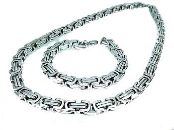 Souprava z oceli řetěz a náramek 17561A