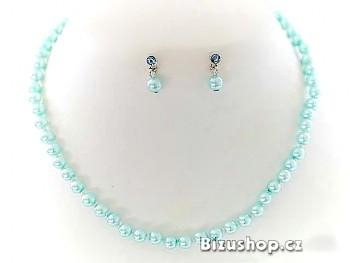 Zyta Souprava  perlová modrá 2516