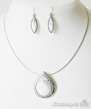 Souprava náušnice náhrdelník přírodní kámen 7974