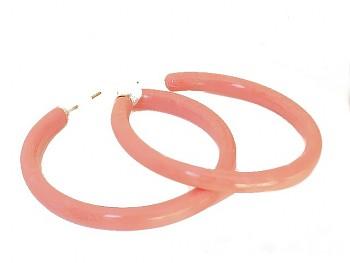 Plastové náušnice kruhy oranž 97805