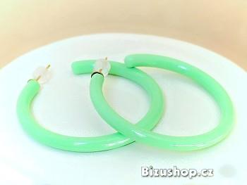 Plastové náušnice kruhy zelené 97807