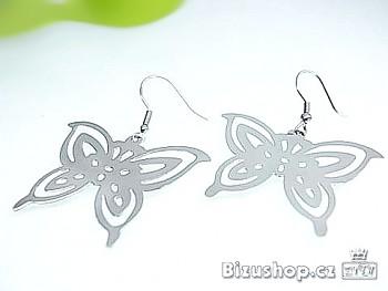 Ocelové visací náušnice Motýl 16294
