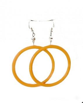 Plastové náušnice kruhy Oranžové 106402