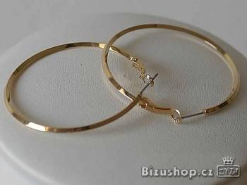 Náušnice kruhy zlaté 4.5 cm 7789
