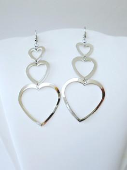 Ocelové náušnice Srdce 15385