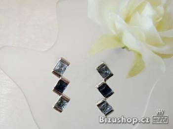 Zyta  Náušnice s modrými skleněnými kameny  298