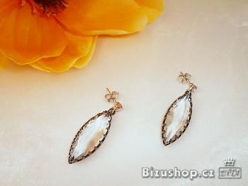 Zyta Náušnice visací  s krystal kameny 30870, Jablonecká bižuterie