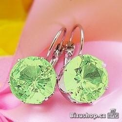 Náušnice zelené kameny