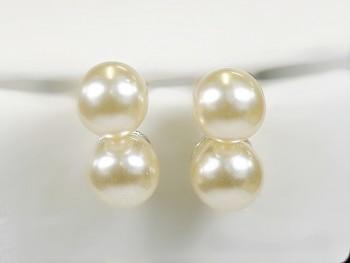 Klasické náušnice perličky 317 Jablonecká bižuterie