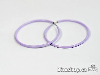 Kruhy kovové fialové 1063E
