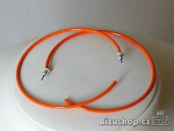 Zyta náušnice kruhy plastové 106504
