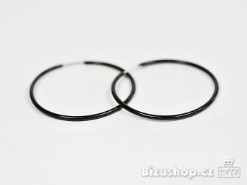 Zyta Náušnice černé kruhy 1051