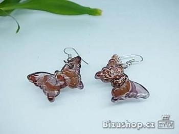 Náušnice z oceli motýl 16887