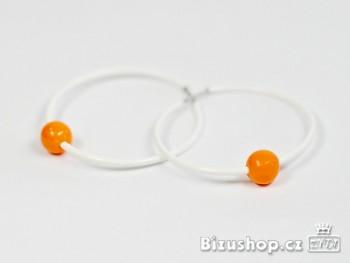 Náušnice kruhy bílé 105106