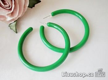 Zyta Náušnice Kruhy plastové  zelené 96302