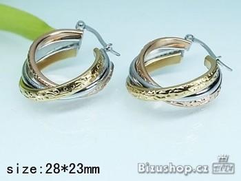 Náušnice Kruhy ocelové 17827