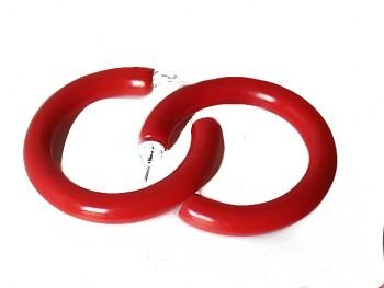 Zyta Náušnice kruhy červené 96601