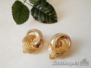 Zyta Náušnice Klipsy zlaté barvy 507902
