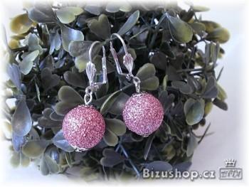 Zyta Náušnice kuličky fialové 2872