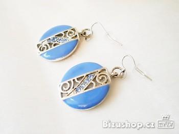 Zyta Náušnice modré ornament 278901