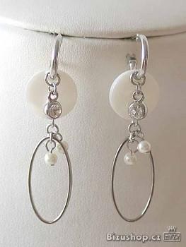 Zyta Náušnice bílá perleť 3194101
