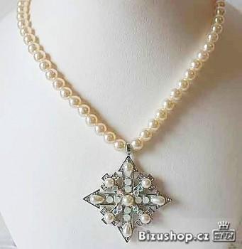 Náhrdelník s přívěskem perly 32178 Jablonecká bižuterie
