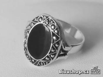 Zyta Prsten černá výplň 23617