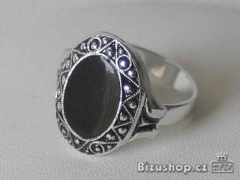 Zyta Prsten s černou vyplní  - 23618